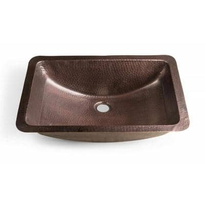 Monarch Dual Mount Pure Copper Hand Hammered Venetian 21 in. Single Bowl Sink