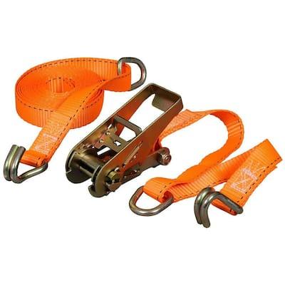 15 ft. x 1 in. x 666 lbs. Ratchet Tie-Down (8-Pack)