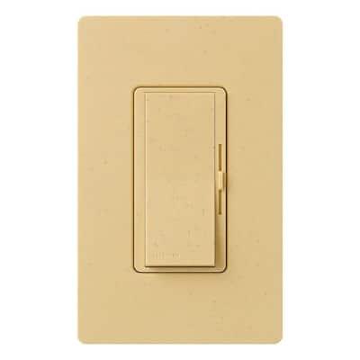 Diva Magnetic Low Voltage Dimmer, 450-Watt, Single-Pole or 3-Way, Goldstone