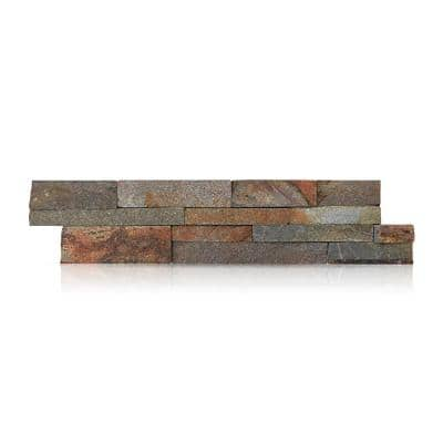 Amber Falls 6 in. x 24 in. Natural Stacked Stone Veneer Panel Siding Exterior/Interior Wall Tile (10-Boxes/55 sq. ft.)