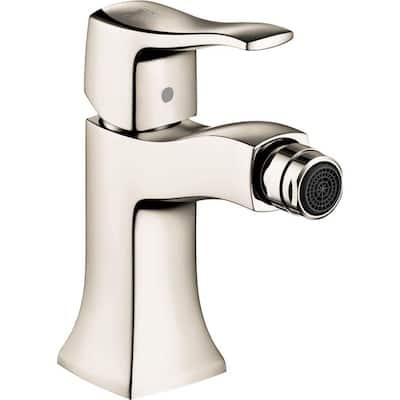 Metris C Single-Handle Bidet Faucet with Handle in Polished Nickel
