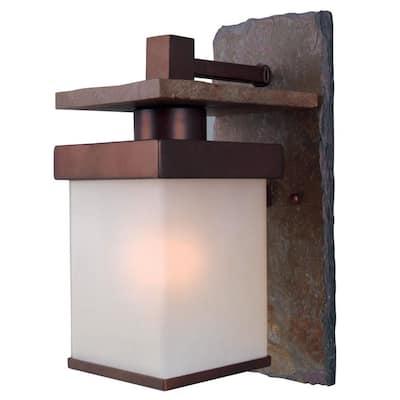 Boulder Copper Outdoor Wall-Mount Lantern Sconce