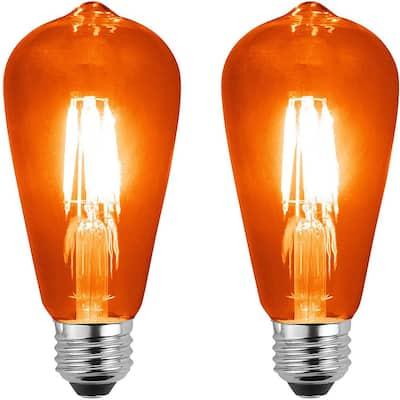 40-Watt Equivalent E26 Energy Saving, Wet-Rated LED Light Bulb 0 K (2-Pack)