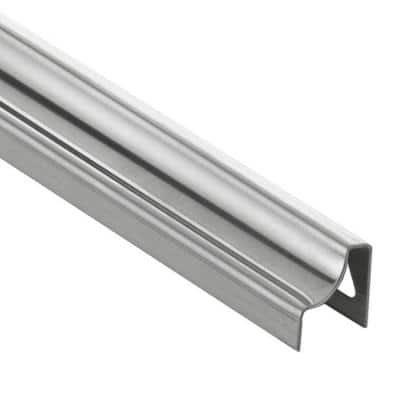 Dilex-HKU Brushed Stainless Steel 5/16 in. x 8 ft. 2-1/2 in. Metal Cove-Shaped Tile Edging Trim
