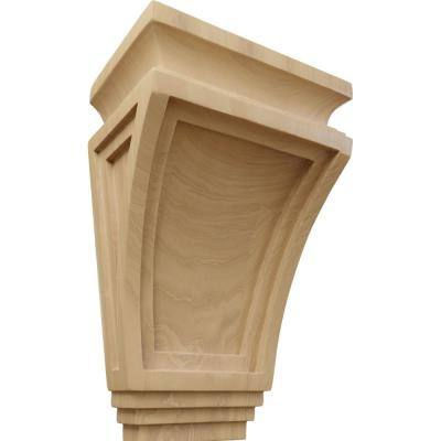 6 in. x 4 in. x 9 in. Cherry Arts and Crafts Corbel