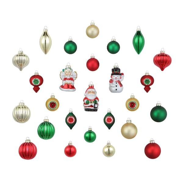 Mr Christmas 30 Piece Vintage Ornament Set 48332 The Home Depot