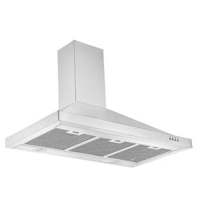 WPS636 36 in. 620 CFM Convertible Wall Mount Pyramid Range Hood with LED in Stainless Steel