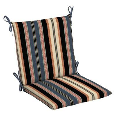 20 in. x 20 in. Bradley Stripe Outdoor Mid Back Chair Cushion (2-Pack)