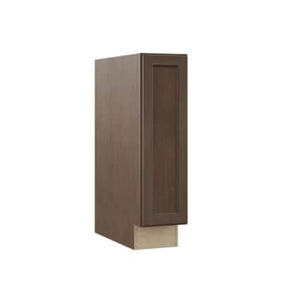 Shaker Assembled 9x34.5x24 in. Base Kitchen Cabinet in Brindle