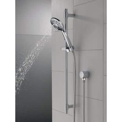 4-Spray 3.9 in. Single Wall Mount Handheld Shower Head in Chrome