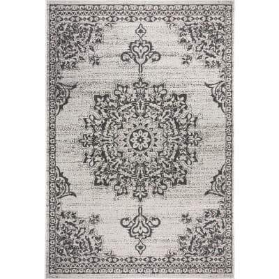 Patio Country Gray/Black 5 ft. 2 in. x 7 ft. 2 in. Indoor/Outdoor Area Rug