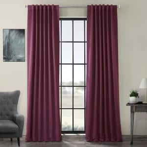 Aubergine Rod Pocket Blackout Curtain - 50 in. W x 108 in. L