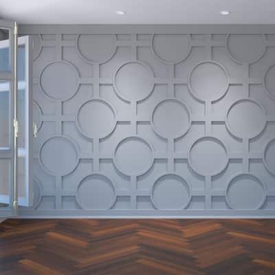 "3/8"" x 42-1/4"" x 23-3/8"" Chesterfield Decorative Fretwork Wall Panels in Architectural Grade PVC"