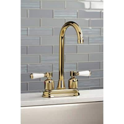 Paris 2-Handle Bar Faucet in Polished Brass