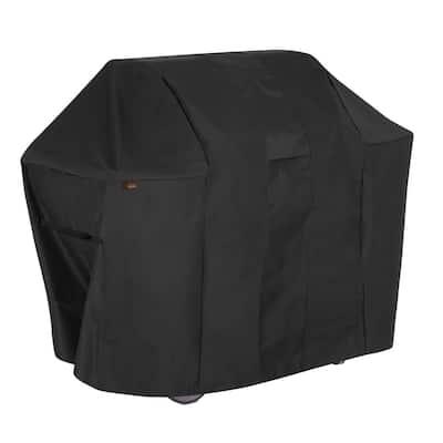 Monterey Water Resistant 4-Burner Grill Cover, 65 in. W x 25 in. D x 44.5 in. H, Medium, Black