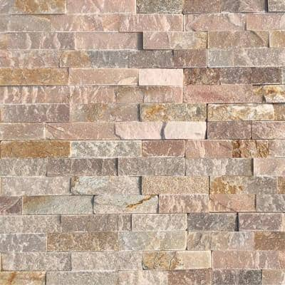 Golden Honey 6 x 24 in. Natural Stacked Stone Veneer Panel Siding Exterior/Interior Wall Tile (10-Boxes/64.17 sq. ft.)
