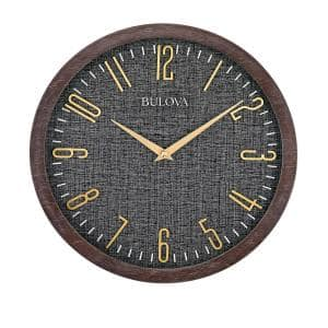 Understated Modern 13 in. Wall Clock in Espresso Hardwood Case