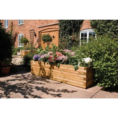 English Garden 70 in. W x 15 in. D x 15 in. H Over-Sized Rectangular Wood Planter