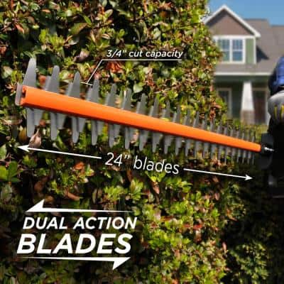40V Hedge Trimmer with 2.0 Ah Battery and Battery Charger