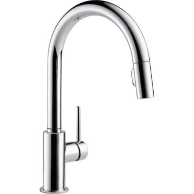 Trinsic Single-Handle Pull-Down Sprayer Kitchen Faucet with MagnaTite Docking in Chrome