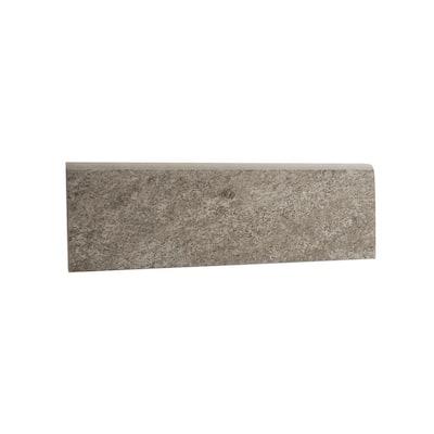 Alpe Graphite 3 in. x 12 in. x 9 mm Porcelain Bullnose Tile (15.00 ft./Case)