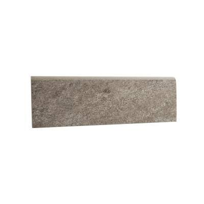 Alpe Graphite 3 in. x 12 in. Porcelain Bullnose Tile (15 ft. / case)