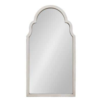 Large Arch White American Colonial Mirror (47.75 in. H x 25.75 in. W)