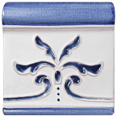 Novecento Friso Evoli Cobalto 5-1/8 in. x 5-1/8 in. Ceramic Wall Trim Tile