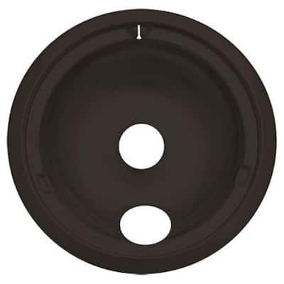 8 in. Drip Bowl in Black Porcelain