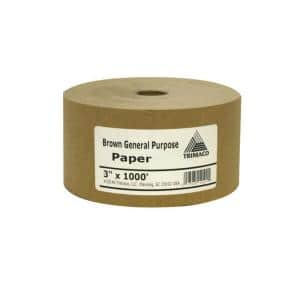 Easy Mask 3 in. X 1000 ft. Brown General Purpose Masking Paper