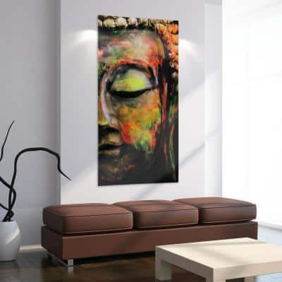 """Buddha"" Frameless Free Floating Tempered Art Glass by EAD Art Coop Wall Art"