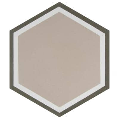 Cemento Hex Holland Channel Encaustic 8 in. x 9 in. Cement Handmade Floor and Wall Tile (5.07 sq. ft. / Case)