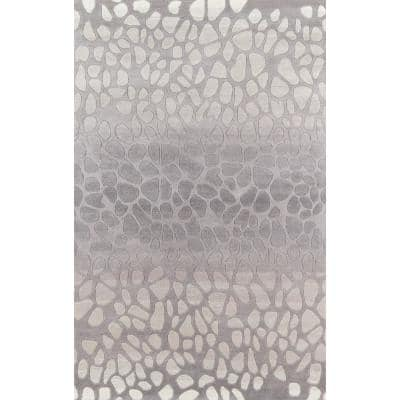 Delhi Silver 8 ft. x 10 ft. Indoor Area Rug