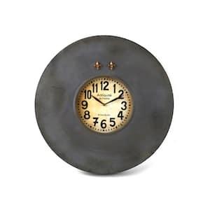 Paris Round Iron Clock with Fleur De Lis Magnets
