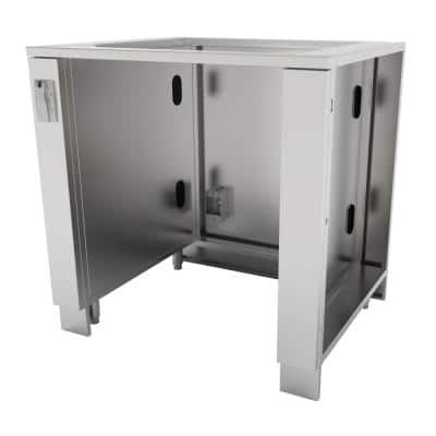 Designer Series 304 Stainless Steel 34 in. x 34.5 in. x 28.25 in. Appliance Cabinet for up to 25 in. W Fridge