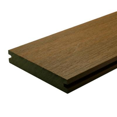 UltraShield Naturale Magellan 1 in. x 6 in. x 4 ft. Peruvian Teak Solid with Groove Composite Decking Board (4-Pack)