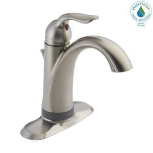 Lahara Single Hole Single-Handle Bathroom Faucet with Touch2O Technology in Stainless