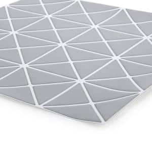 Self-Adhesive 10 x 10 in. Grey 6-Pieces Peel and Stick Geometric Wall Tiles