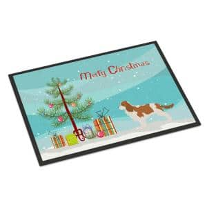 24 in. x 36 in. Indoor/Outdoor Cavalier King Charles Spaniel Merry Christmas Tree Door Mat