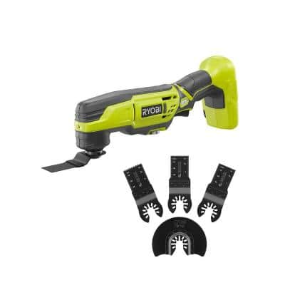 ONE+ 18V Cordless Multi-Tool (Tool Only) with 4-Piece Wood Oscillating Multi-Tool Blade Set