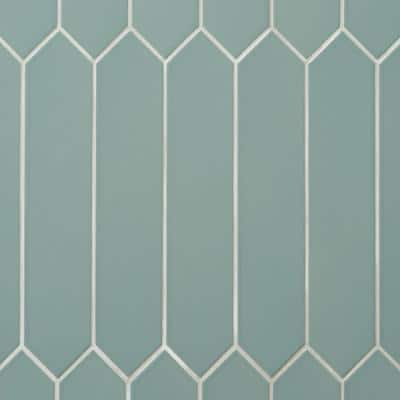 Axis 2.6 in. x 13 in. Jade Polished Elongated Hex Ceramic Wall Tile (12.26 sq. ft. / case)