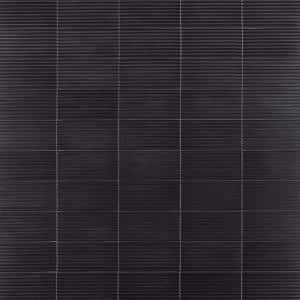 Ardor Linear Black 4.7 in. x 9.7 in. Metallic Porcelain Wall Tile (6.32 sq. ft./Case)