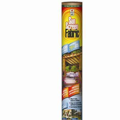 6 ft. x 50 ft. Sun Screen Fabric Shade Canopy in Saddle Tan, Heavy Duty