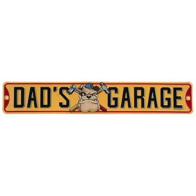Dad'S Garage Embossed Tin Street Sign