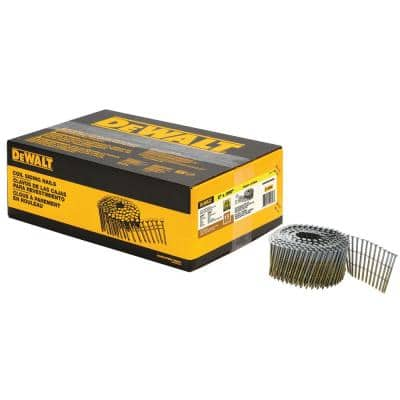 2 in. x 0.090 in. Metal Coil Ring Shank Nails (3600 per Box)