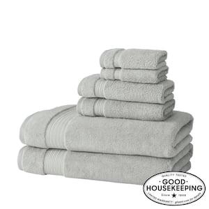 Egyptian Cotton 6-Piece Bath Sheet Towel Set in Shadow Gray