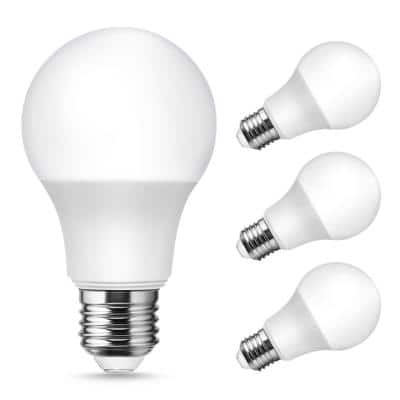 UL Listed 9-Watt, 60-Watt Equivalent A19 LED Bug Light Bulb E26 Base in Yellow-Colored 2100K (4-Pack)