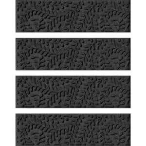 Boxwood 8.5 in. x 30 in. Stair Treads (Set of 4) Charcoal
