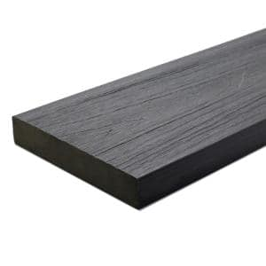 UltraShield Naturale Cortes Series 1 in. x 6 in. x 16 ft. Westminster Gray Solid Composite Decking Board (49-Pack)