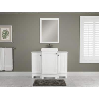 Shaila 12 in. W x 13 in. D Hutch in White with White Top